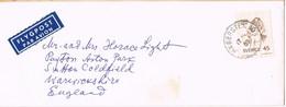 39506. Carta Aerea HAGERSTEN (Sverige) Suecia 1969 To England - Briefe U. Dokumente