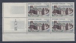 CHATEAU De FOUGERES N° 1236 - Bloc De 4 COIN DATE - NEUF SANS CHARNIERE - 4/1/60 - 1960-1969
