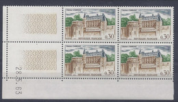 CHATEAU D'AMBOISE N° 1390 - Bloc De 4 COIN DATE - NEUF SANS CHARNIERE - 28/5/63 - 1960-1969
