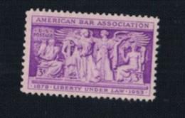 S-1108**US 1953**Scott #1022 **American Bar Assoc.** 3 Cent  Mint No Gum - Nuevos