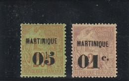 Martinique N° 4-7 - Neufs