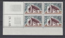 RONCHAMP N° 1435 - Bloc De 4 COIN DATE - NEUF SANS CHARNIERE - 29/4/65 - 1960-1969