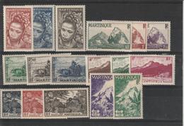 Martinique N° 226/242 - Neufs