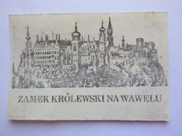 Ticket D'entrée Château Du Wawel - Zamek Krolewski Na Wawelu - Cracovie Pologne -(Attention : Trace De Charnière Au Dos) - Tickets - Entradas