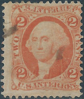 Stati Uniti D'america,United States,U.S.A,1862-71, Inter. Revenue Stamp 2c Org,Used - Fiscaux