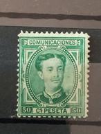 Alfonso XII Edifil 179. 50 Céntimos Verde. Nuevo. - Nuevos