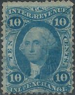 Stati Uniti D'america,United States,U.S.A,1862-71,Revenue Inld Exchange,10c Blue,Used - Fiscaux
