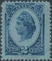 Stati Uniti D'america,United States,U.S.A,1875-78,Inter. Revenue Stamp,2c Blue - Fiscaux