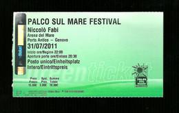 Biglietto Di Ingresso - Palco Sul Mare Festival Di Genova - Tickets - Entradas