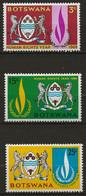 BOTSWANA: **, N° YT 192 à 194, Série, TB - Botswana (1966-...)