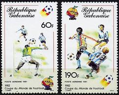 "Gabon Aerien YT 242 & 243 (PA) "" Coupe Monde Football "" 1981 Neuf** - Gabon"