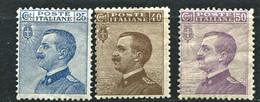 REGNO 1908 VITTORIO EMANUELE III 3 VALORI * GOMMA ORIGINALE - Ungebraucht