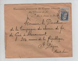REF3538/ TP 76 GB S/L. Commission Permanente Congrès Inter. Chemins De Fer C.BXL (R.Ducale) 1909 > St.Dizier C.d'arrivée - 1905 Grosse Barbe