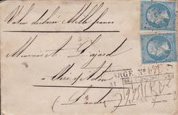 Yvert 14B Empire Franc  Bleu  LSC Mont De Marsan  PC 2413 Pour Aire 1846 - Non Classificati