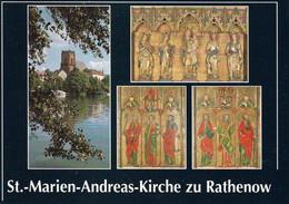 1 AK Germany / Brandenburg * St. Marien Und Andreas-Kirche In Der Stadt Rathenow Mit Dem Flügelaltar Aus Dem 14. Jh. * - Rathenow