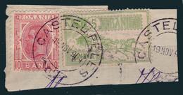 FRAGMENT De PLIC : FRANCATURA MIXTA (Mi. 133 - 1900 & Mi. 148 - 1903) - STAMPILA : CASTEL PELES / 1904 - RRR !!! (ag669) - Gebraucht