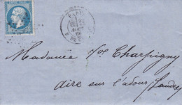 Yvert 14B Empire Franc  Bleu  LAC Etoile Muette  Pour Aire 1866 - Non Classificati