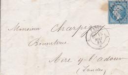 Yvert 14B Empire Franc  Bleu  LAC Etoile Muette  Pour Aire 1863 - Non Classificati