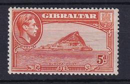 Gibraltar: 1938/51   KGVI     SG125c    5d     MNH - Gibraltar