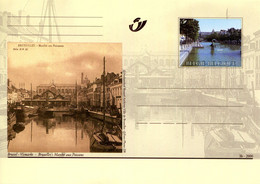 11200502 BE 20001014; Bruxelles Autrefois, Bx Aujourd'hui; Marché Aux Poissons; Cob BK80 - Cartes Postales [1951-..]
