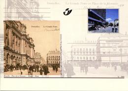 11200503 BE 20001014; Bruxelles Autrefois, Bx Aujourd'hui; Place De La Monnaie; Cob BK81 - Cartes Postales [1951-..]