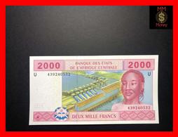 """CENTRAL AFRICAN STATES  """"U""""  CAMEROUN 2.000 2000 Francs 2002  P. 208   *Hybrid*  UNC - - Central African States"""
