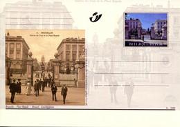 11200505 BE 20001014; Bruxelles Autrefois, Bx Aujourd'hui; Place Royale; Cob BK83 - Cartes Postales [1951-..]