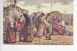 CRO2184  --   V. MENEGHELLO - DINCIC  --  PAZAR U SPLJETu ( SPLIT )  DALMACIJA   --  1929 - Croatie