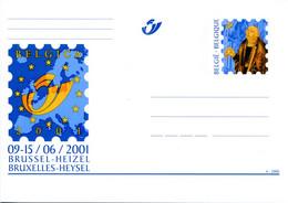 11200507 BE 20001225; Fr De Tassis, Belgica 2001; Cob BK85, Entier Postal - Cartes Postales [1951-..]