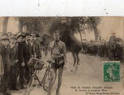 TOUR DE FRANCE CYCLISTE PEUGEOT ARRIVEE LE VAINQUEUR WIRTZ 2 EME ETAPE REIMS NANCY 210 KM - Ciclismo