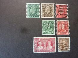 CANADA, Année 1930-35, YT N° 142a - 143a - 161a - 162a - 163a - 174 - 175, Oblitérés (cote 6.70 EUR) - Oblitérés