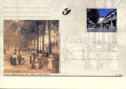 11200511 BE 20001014; Bruxelles Autrefois, Bx Aujourd'hui; 6 Cartes Postales Illustrées, Cob BK79-84 - Cartes Postales [1951-..]