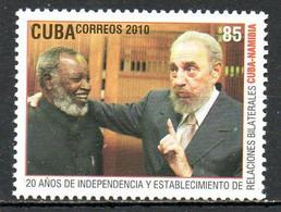 CUBA. Timbre De 2010. Castro/Namibie. - Nuevos