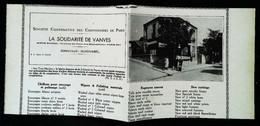 """► VANVES  Coopérative Chiffonniers """"Bistro-Banque Aux 3 Marches"""" Coupure De Presse Originale Début XXe (Encadré Photo) - Documentos Históricos"""