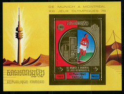 Olympische Spelen  1976 , Cambodge ( Khmere )  - Blok  Postfris - Summer 1976: Montreal