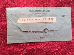 Rare  De 1906--BÉZIERS / PÉZENAS Télégraphes Et Téléphones✔️TÉLÉGRAMME-☛Affaire Agréé Conditions Tenues - Télégraphes Et Téléphones