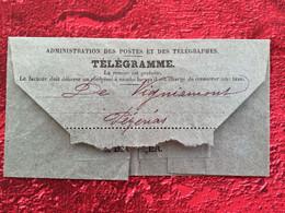 Rare  De 1906--BÉZIERS / PÉZENAS Télégraphes Et Téléphones✔️TÉLÉGRAMME-☛Affaire Impossible Déplacer Offre - Télégraphes Et Téléphones