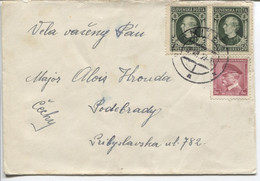 Slowakei Vorläufer 18.7.39 CSR 350, Sl 39 (2x) Nitra > Podebrady - Covers & Documents