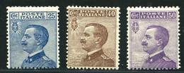REGNO 1908 VITTORIO EMANUELE III 3 VALORI  ** MNH - Ungebraucht
