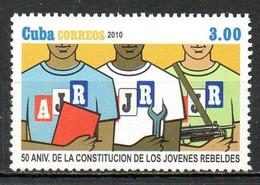 CUBA. Timbre De 2010. Jovenes Rebeldes. - Nuevos