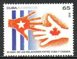 CUBA. Timbre De 2010. Relations Avec Le Canada. - Nuevos