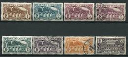 20945 CONGO N°113/4, 116/8, 120, 124 */° Dentelés 13 1/2   1933  B/TB - Ungebraucht