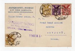CZECHOSLOVAKIA: 1921 Commercial Postcard To Moravia (S41) - Briefe U. Dokumente