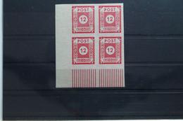 SBZ 60 ** Postfrisch Als Eckrandviererblock #UO499 - Zone Soviétique