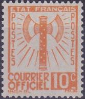 France Timbre Service 10c  N° 1 Année 1943 Neuf - Neufs