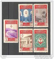 MA270SF1-L2844TSCLA.Maroc.Marocco   MARRUECOS ESPAÑOL PRO TUBERCULOSOS 1946 (Ed 270/4**)sin Charnela.LUJO - Spanish Morocco