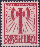 France Timbre Service 1F50  N° 8 Année 1943 Neuf  SG - Neufs