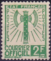 France Timbre Service 2F  N° 9 Année 1943 Neuf  SG - Neufs