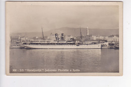CRO2197  --  S / S  ,, KARADJORDJE ,,    --  JADRANSKA PLOVIDBA, SPLIT --    SHIP, DAMPFER  --  REAL PHOTO PC  --  1937 - Croatie