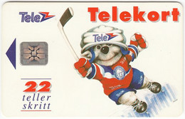NORWAY A-456 Chip Telenor - Sport, Ice Hockey - Used - Noruega